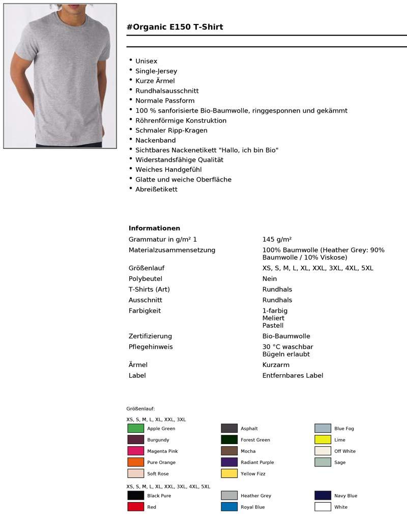 Bio Baumwoll T-Shirt Herren
